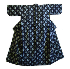 A Mid 20th Century Woman's Kimono: Cotton Kasuri