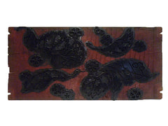 An Elaborately Carved and Lacquered Itajime Board: Channel Back