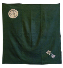 An Overdyed Katazome Furoshiki: Wood Sorrel Family Crest