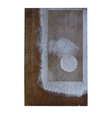 A Reversible Hand Carved Wood Block: White and Black