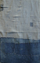 A Beautifully Subtle Length of Indigo Dyed Boro Cotton: Repairs