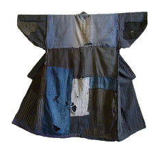 A Soulful and Attractive Boro Kimono: Large Patches