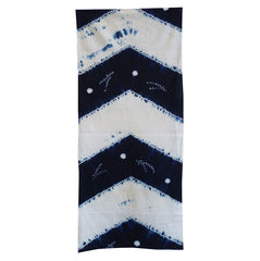A Length of Indigo Dyed Shibori Cotton: Arrow Feather Motif