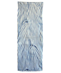 A Length of Yanagi Shibori: Graphic Blue on White