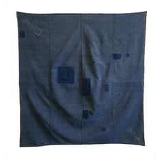A Sashiko Stitched Boro Furoshiki: Yarn Dyed Cloth
