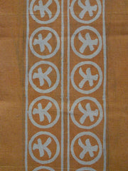 A Length of Stenciled Cotton: Yellow Color