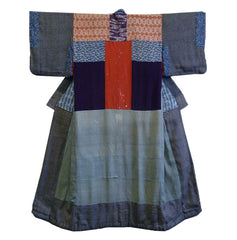 A 19th Century Silk Piece-Constructed Juban: Katazome