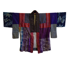 A Boro Piece-Constructed Han Juban: Wonderful Collage of Old Silks