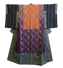 A 19th Century Pieced Silk Juban: Botanical Dyes