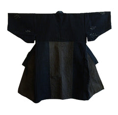 An Intensely Sashiko Stitched Pieced Cotton Kimono: Beautiful Design
