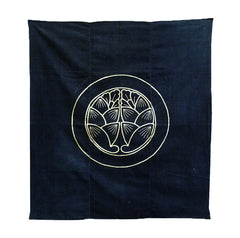 A Resist Dyed Cotton Furoshiki: Family Crest
