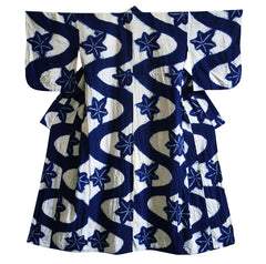 A Shibori Dyed Yukata: Beautiful Pattern