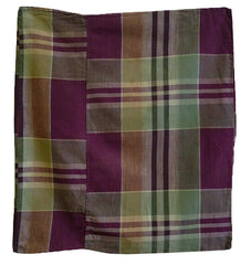 A Plaid Cotton Zabuton Cover: #1