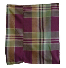 A Plaid Cotton Zabuton Cover: #2