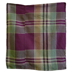 A Plaid Cotton Zabuton Cover: #3