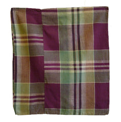 A Plaid Cotton Zabuton Cover: #4