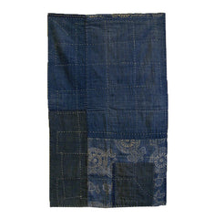 A Double-Sided Sashiko Stitched Sitting Mat: Katazome and Indigo Dyed Cottons