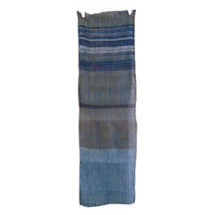 A Beautifully Colored Zanshi ori Cotton Kaya Fragment: Netting