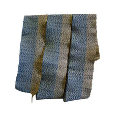 An Interesting Patterned Woven Obi: Twisted Duo-tone Weft Yarn