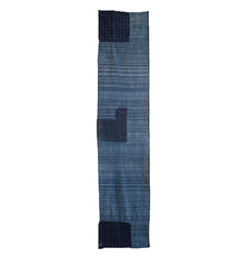A Beautiful Length of Zanshi Ori: Indigo Dyed Leftover Cotton Yarns