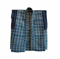 A Superb Child's Zanshi-ori Vest: Indigo Dyed Cotton