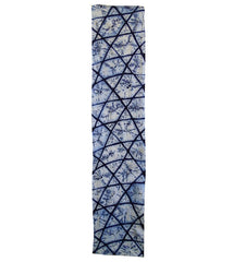 A Length of Boldly Graphic Indigo Dyed Shibori: Yukata Piece