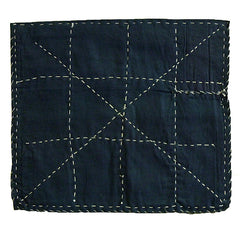 A Dark Blue Cotton Zokin: Grid and X