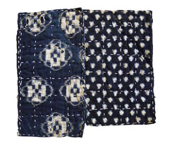 A Pair of Kasuri Cotton Zokin: Two Patterns