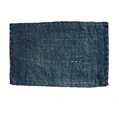 An Indigo Dyed Cotton Zokin: Quirky Stitching