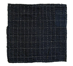 A Beautifully Stitched Zokin: Sashiko Grid
