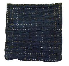 A Deeply Colored Indigo Zokin: Some Hemp Stitching