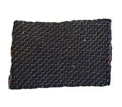 A Black Cotton Zokin: Mountain Pattern Sashiko Stitching