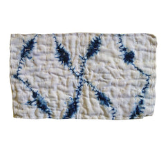 A Shirakage Shibori Zokin #1: Blue on White