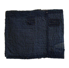 A Boro Zokin: Stitched Indigo Dyed Cotton