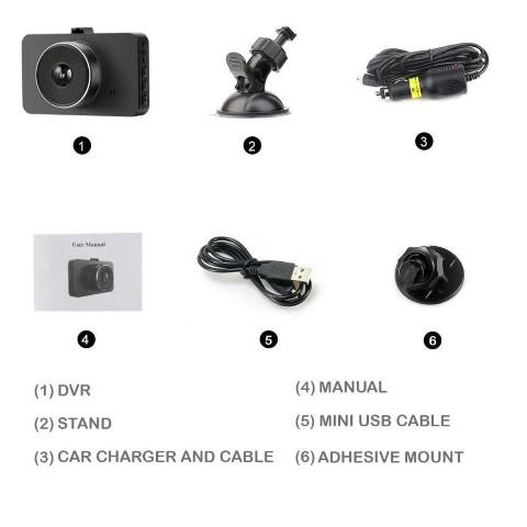 Image of Explon Dash Camera - Full HD 1080P - G-Sensor - Motion Detection