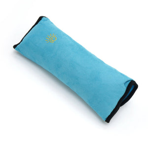 High Quality Seat Belt Pillow for Kids - Extra Soft Support for Travel (Blue)