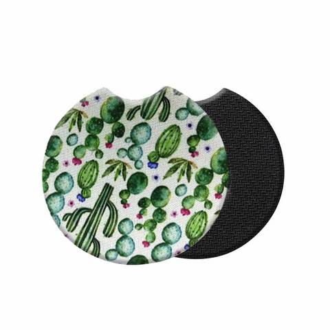 Car Coasters - High Quality Cup Holder for Your Car - 2.75 Inches (Cactus)