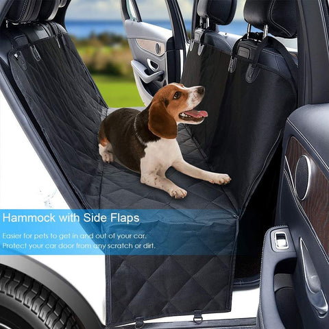 Image of High Quality Dog Back Seat Cover Protector - Comfy Fabric Quilted Non-Slip Technology, Waterproof, Dog Seat Protector-Large (Black)