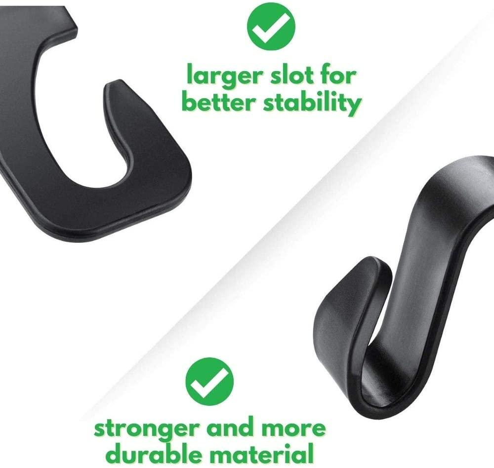 Car Seat Hooks for Car (4 Pack) - High Quality Back Seat Organizer Hanger Storage Hook