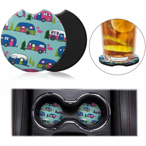 Image of Car Coasters - High Quality Cup Holder for Your Car - 2.75 Inches (Mini Bus)