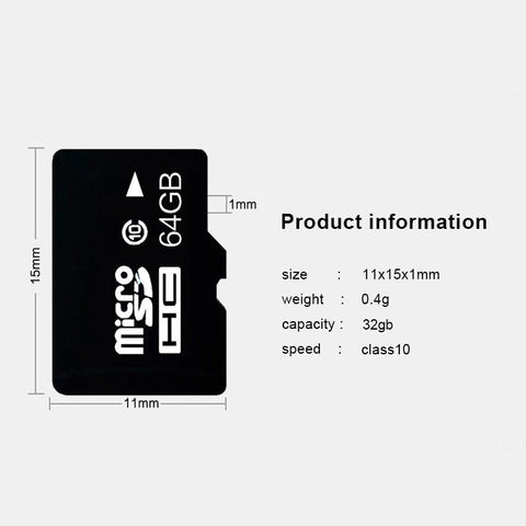 Image of Memory Card - 64GB microSD Card with Adapter