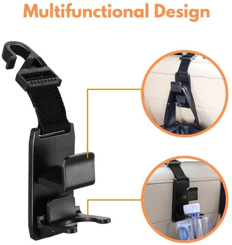 Image of Car Seat Hooks for Car (4 Pack) - High Quality Purse Hanger Headrest Holder for Car Seat Organizer
