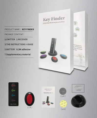 Key Finder - Explon Smart Tracker - GPS Locator Wireless Bluetooth Anti Lost Alarm Sensor Device for Car Keys, and Wallets