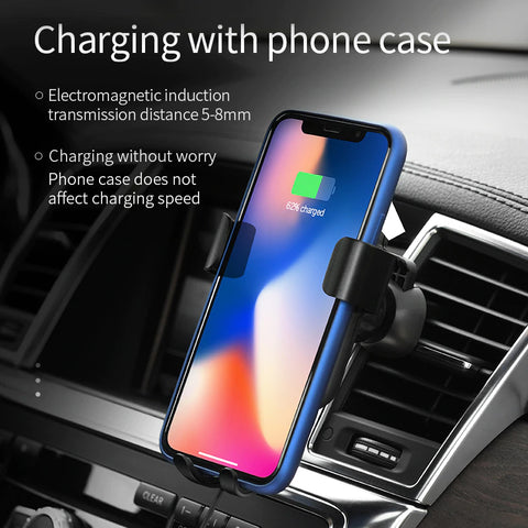 Image of High Quality Fast Wireless Car Charger Mount Qi Certified - Fast Wireless Charging Pad for All Qi Smart Phones