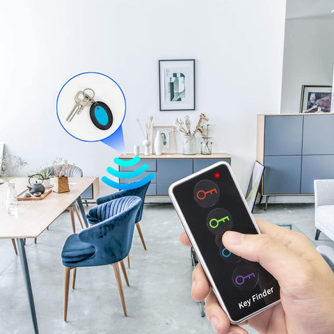 Image of Key Finder - Explon Smart Tracker - GPS Locator Wireless Bluetooth Anti Lost Alarm Sensor Device for Car Keys, and Wallets