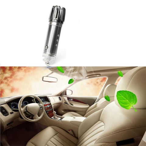 Car Ionic Air Purifier - High Quality Portable Mini Travel USB Air-Freshener with HEPA Filter to Remove Odor Smell Bacteria and Allergen