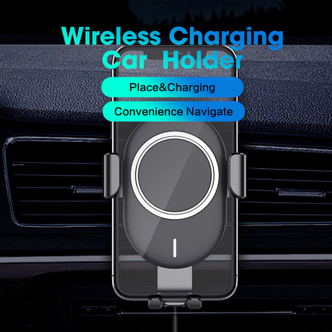 Explon Fast Wireless Car Charger Mount Qi Certified - Fast Wireless Charging Pad for All Qi Smart Phones