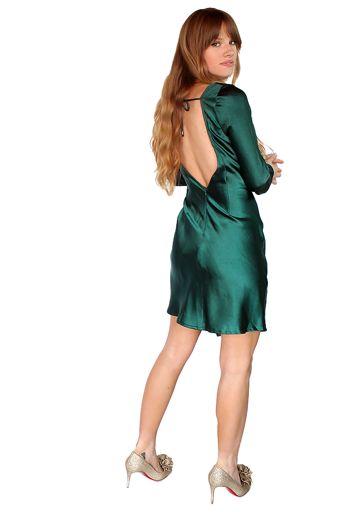 CATHERINE DRESS - EMERALD