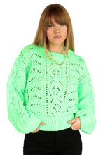 Load image into Gallery viewer, PRESLEY SWEATER - NEON LIME