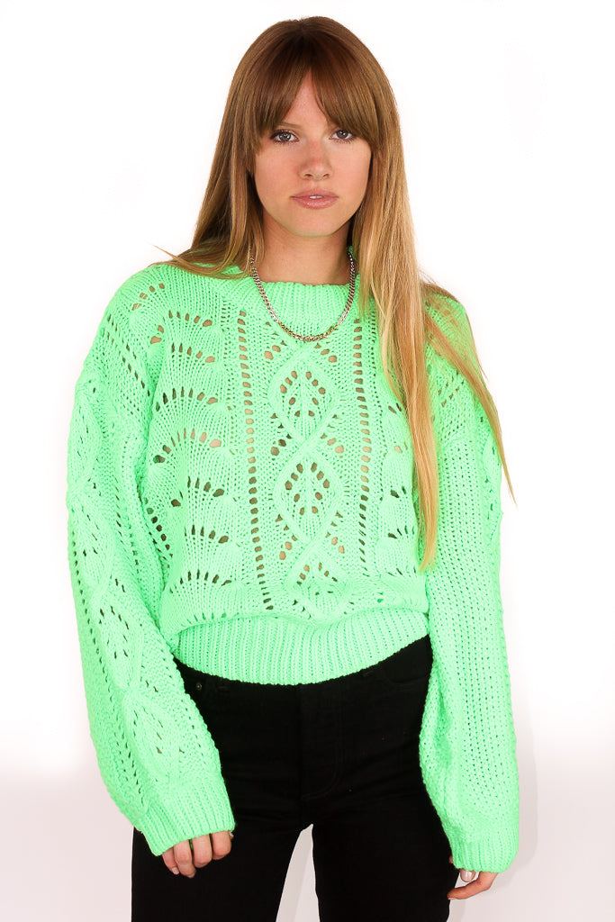 PRESLEY SWEATER - NEON LIME